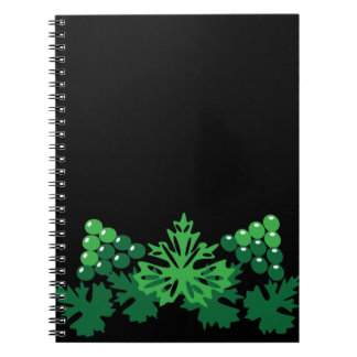 leaves with grapes notebook