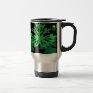 leaves with grapes travel mug