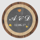 Leaves Wood Winter Fall Lights Stickers Label