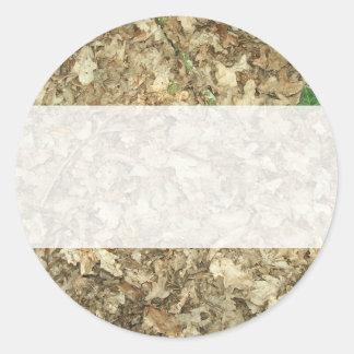 Leaves. Woodland floor. Leafy ground. Classic Round Sticker