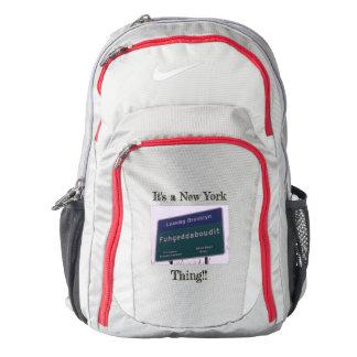 Leaving Brooklyn New York Fuhgeddaboudit Backpack