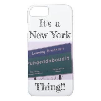 Leaving Brooklyn New York Fuhgeddaboudit iPhone 8/7 Case