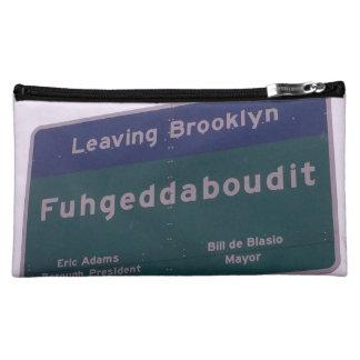 Leaving Brooklyn New York Fuhgeddaboudit Makeup Bag