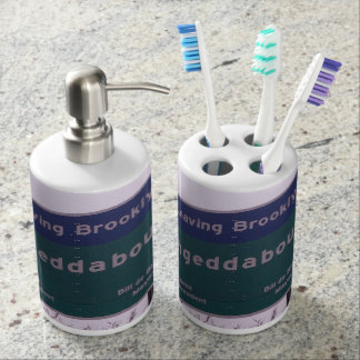 Leaving Brooklyn New York Fuhgeddaboudit Soap Dispenser And Toothbrush Holder