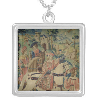 Leaving for the Hunt Silver Plated Necklace