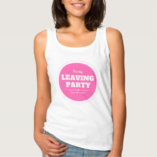 Leaving party singlet