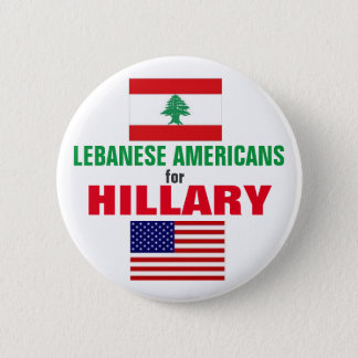 Lebanese Americans for Hillary 2016 6 Cm Round Badge