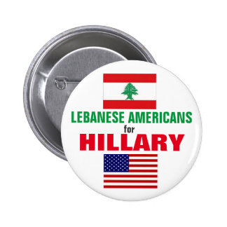 Lebanese Americans for Hillary 2016 6 Cm Round Badge