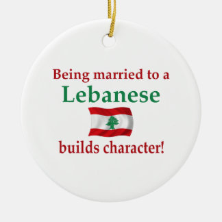 Lebanese Builds Character Ceramic Ornament