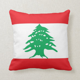 Lebanese Flag American MoJo Pillow