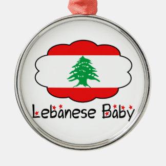 Lebanese Flag Baby Christmas Ornament