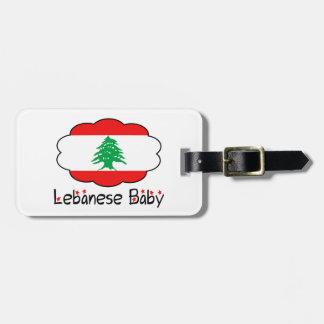 Lebanese Flag Baby Luggage Tag