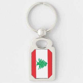 Lebanese Flag Key Ring