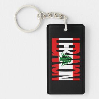 Lebanese Flag Logo Keychain