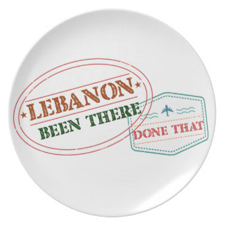 Lebanon Been There Done That Plate