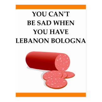 lebanon bologna postcard