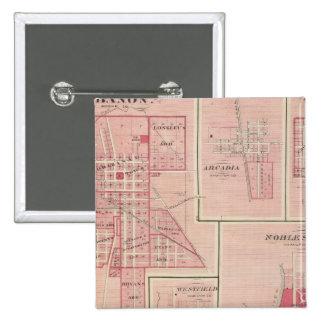 Lebanon, Boone Co with Arcadia, Zionsville 15 Cm Square Badge