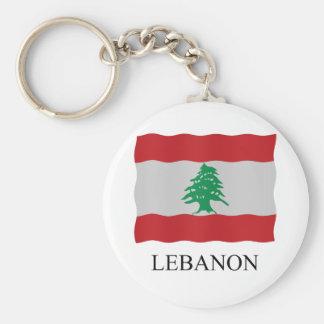 Lebanon flag basic round button key ring