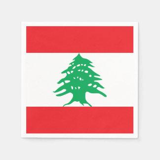 Lebanon Flag Disposable Serviette