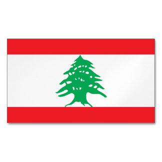 Lebanon Flag Magnetic Business Cards