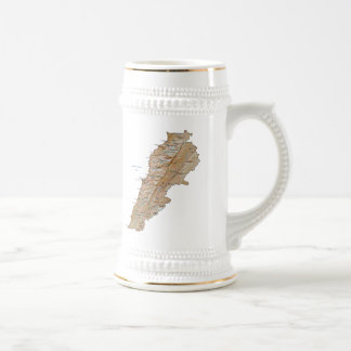 Lebanon Flag ~ Map Mug