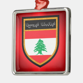 Lebanon Flag Metal Ornament