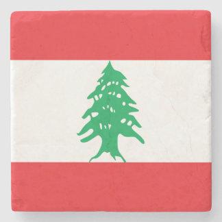 Lebanon Flag Stone Coaster