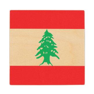 Lebanon Flag Wood Coaster