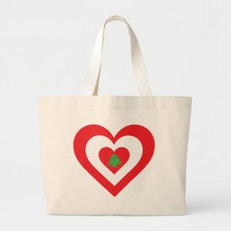 Lebanon Heart Tote Bags