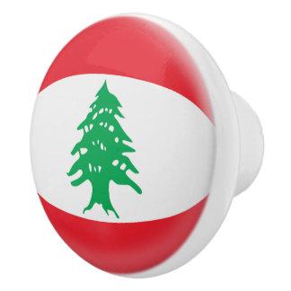 Lebanon Lebanese Flag Ceramic Knob