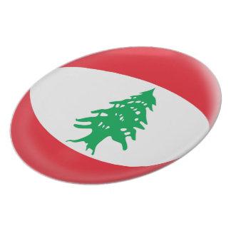 Lebanon Lebanese Flag Plate