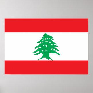 Lebanon – Lebanese Flag Poster