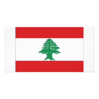 Lebanon National Flag Photo Card Template