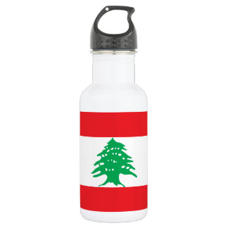 Lebanon National World Flag 532 Ml Water Bottle