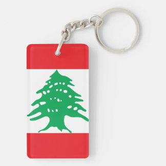 Lebanon National World Flag Key Ring