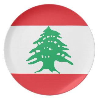 Lebanon National World Flag Plate