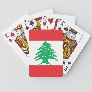Lebanon National World Flag Playing Cards