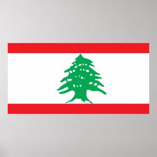 Lebanon National World Flag Poster