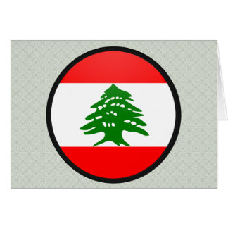 Lebanon quality Flag Circle Card