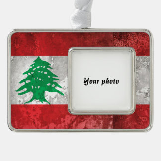 Lebanon Silver Plated Framed Ornament