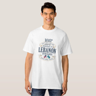 Lebanon, South Dakota 100th Anniv. White T-Shirt
