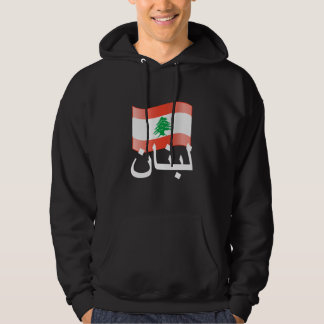 Lebanon Waving Flag Hooded Sweatshirt