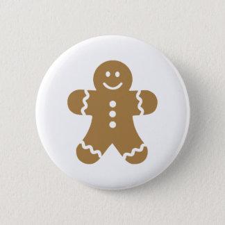 Lebkuchen man christmas 6 cm round badge