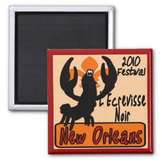L'Ecrevisse Noir The Black Crawfish Festival 2010 Refrigerator Magnet