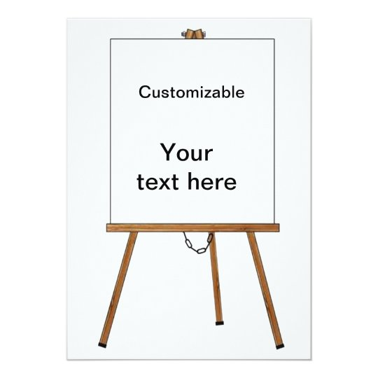 Lecture and Display Wooden Easel Card