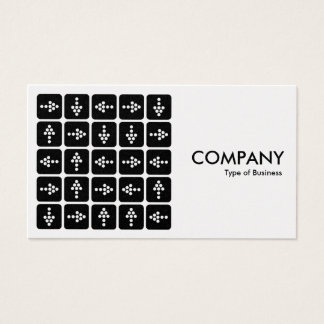 LED Arrows Square - White (Platinum Card) Business Card