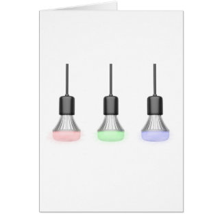 LED bulbs with different colors Card