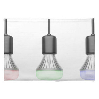 LED bulbs with different colors Placemat