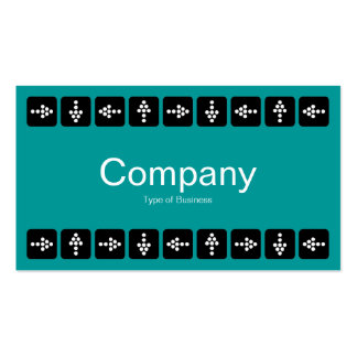 LED Style Arrows - Turquoise and Gray Pack Of Standard Business Cards