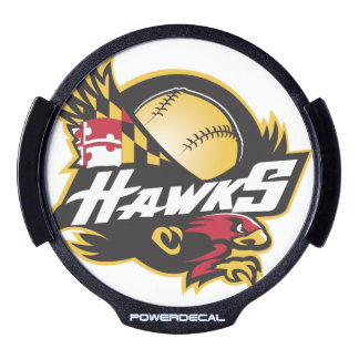 LED Window Decal with Hawks Logo